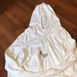 white thin lululemon hoodie!!